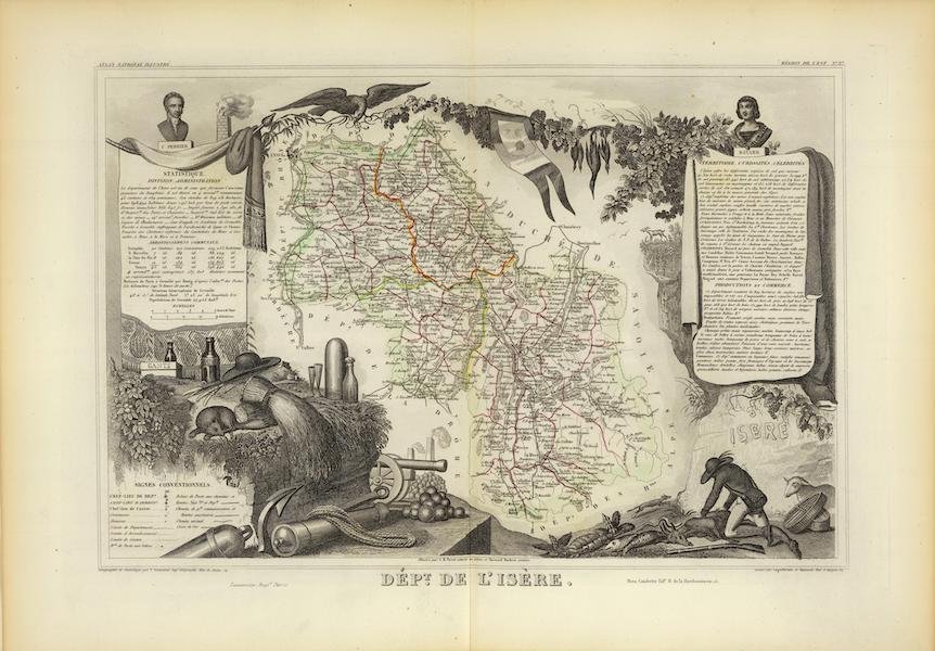 Atlas National Illustre - Dept. De L'Isere (1856)