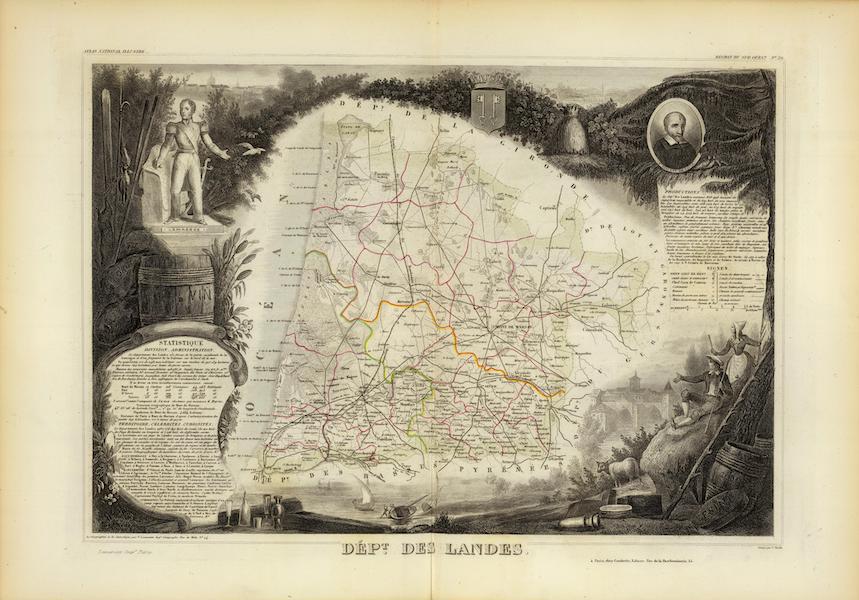 Atlas National Illustre - Dept. Des Landes (1856)