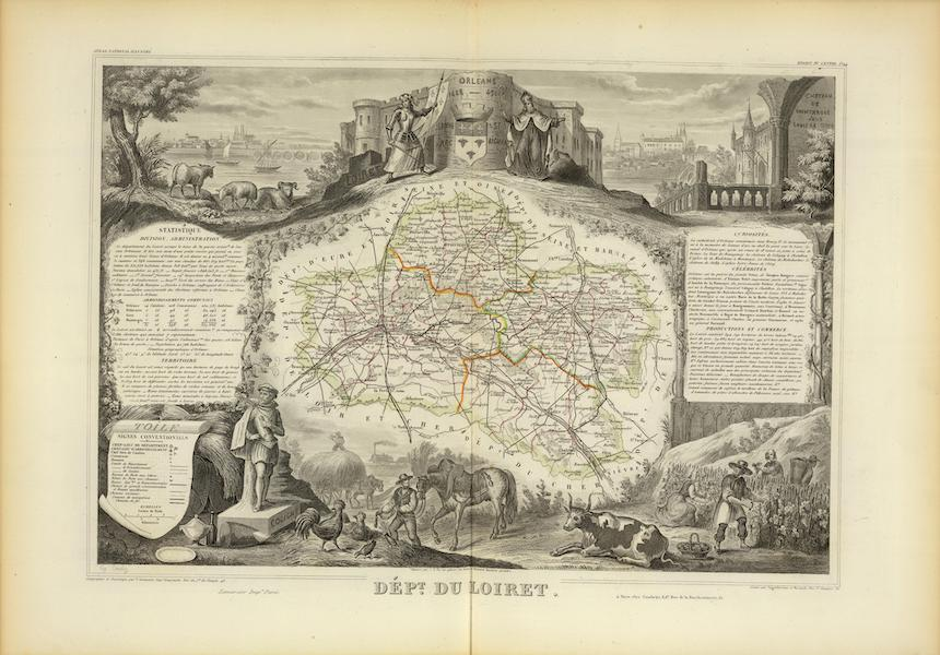 Atlas National Illustre - Dept. Du Loiret (1856)