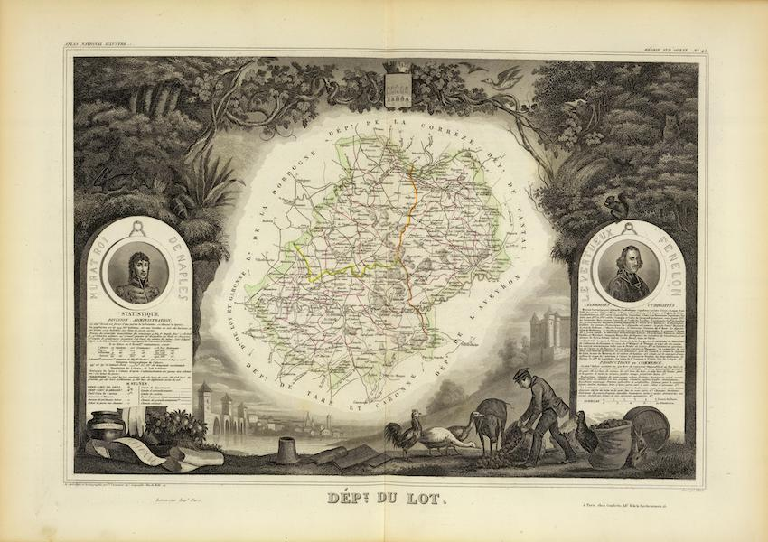 Atlas National Illustre - Dept. Du Lot (1856)