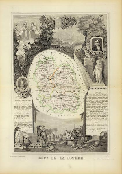 Atlas National Illustre - Dept. De La Lozere (1856)