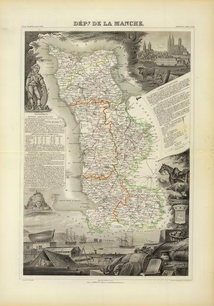 Atlas National Illustre - Dept. De La Manche (1856)