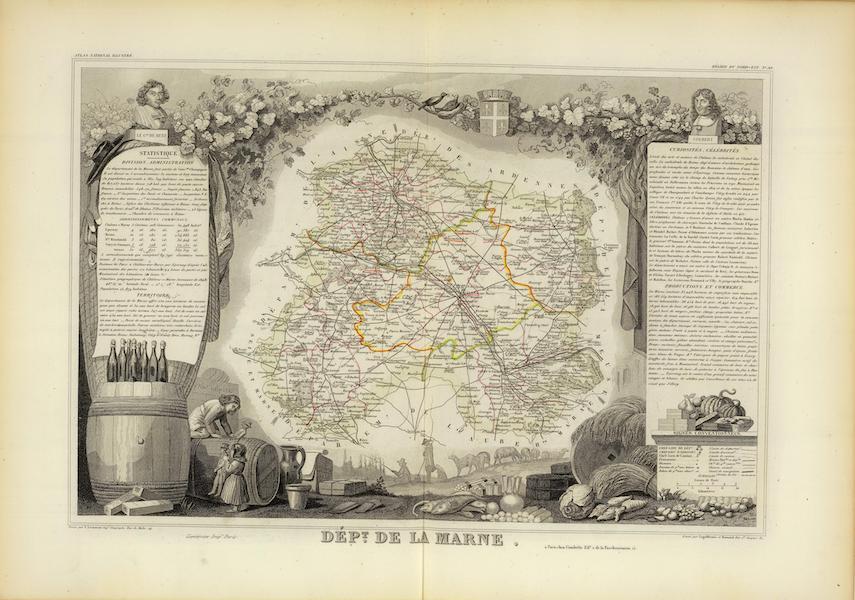 Atlas National Illustre - Dept. De La Marne (1856)