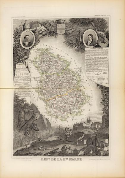 Atlas National Illustre - Dept. De La Hte. Marne (1856)