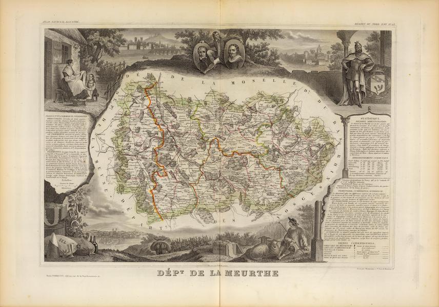 Atlas National Illustre - Dept. De La Meurthe (1856)