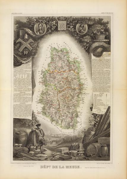 Atlas National Illustre - Dept. De La Meuse (1856)