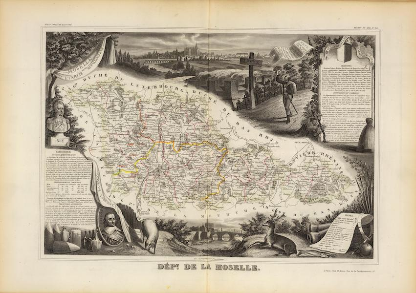 Atlas National Illustre - Dept. De La Moselle (1856)