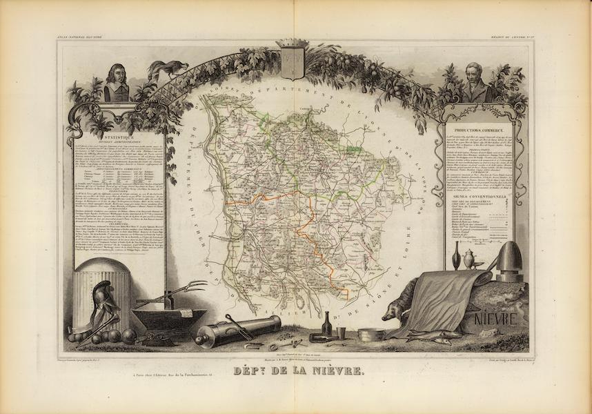Atlas National Illustre - Dept. De La Nievre (1856)