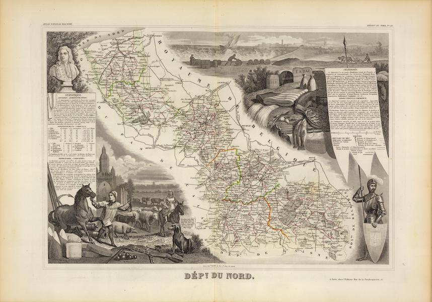 Atlas National Illustre - Dept. Du Nord (1856)