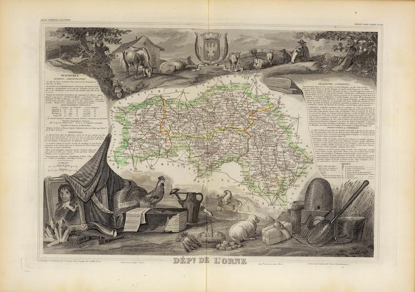 Atlas National Illustre - Dept. De L'Orne (1856)