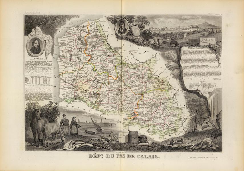 Atlas National Illustre - Dept. Du Pas De Calais (1856)