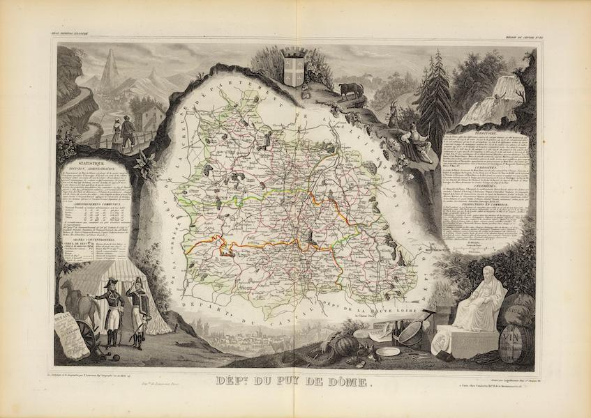 Atlas National Illustre - Dept. Du Puy De Dome (1856)