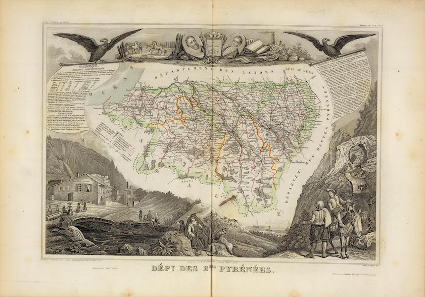 Atlas National Illustre - Dept. Des Bses. Pyrenees (1856)