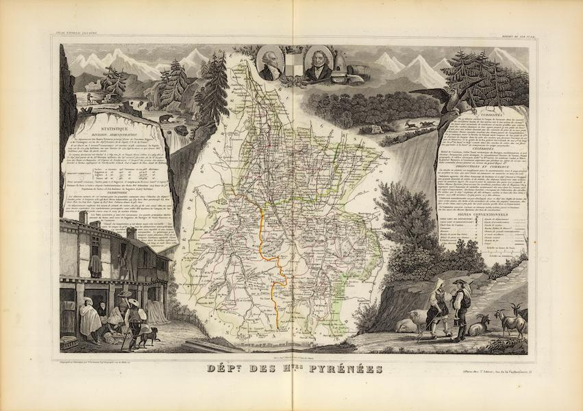 Atlas National Illustre - Dept. Des Htes. Pyrenees (1856)