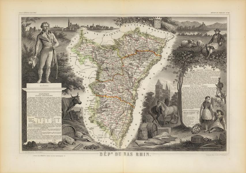 Atlas National Illustre - Dept. Du Bas Rhin (1856)