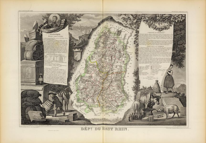 Atlas National Illustre - Dept. Du Haut Rhin (1856)
