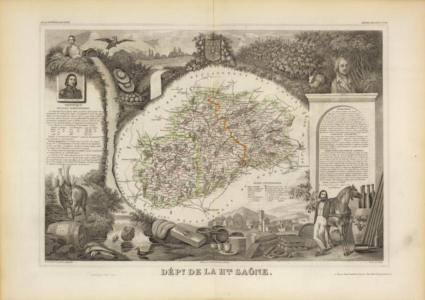 Atlas National Illustre - Dept. De La Hte. Saone (1856)