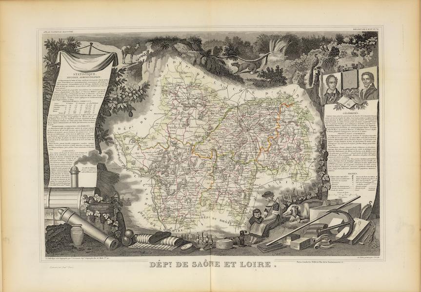 Atlas National Illustre - Dept. De Saone et Loire (1856)