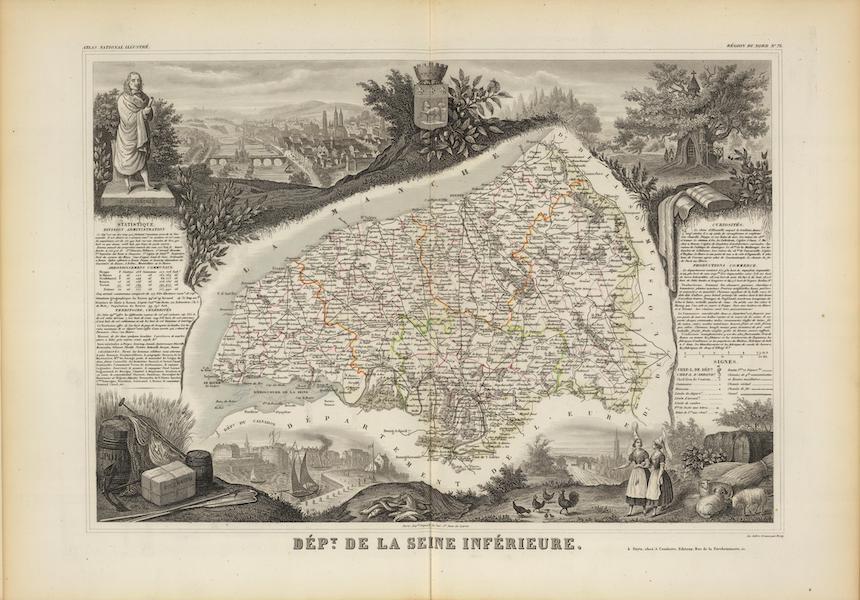 Atlas National Illustre - Dept. De La Siene Inferieure (1856)