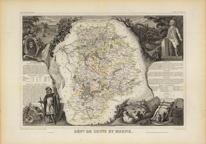 Atlas National Illustre - Dept. De Siene et Marne (1856)