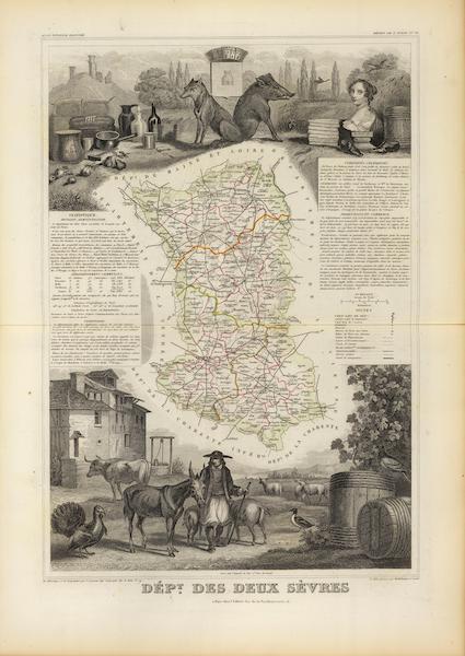Atlas National Illustre - Dept. Des Deux Sevres (1856)