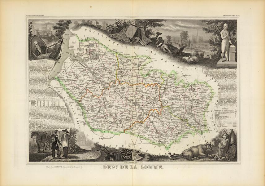 Atlas National Illustre - Dept. Des De La Somme (1856)
