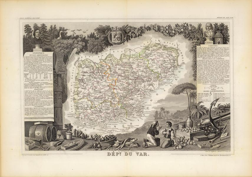 Atlas National Illustre - Dept. Du Var (1856)
