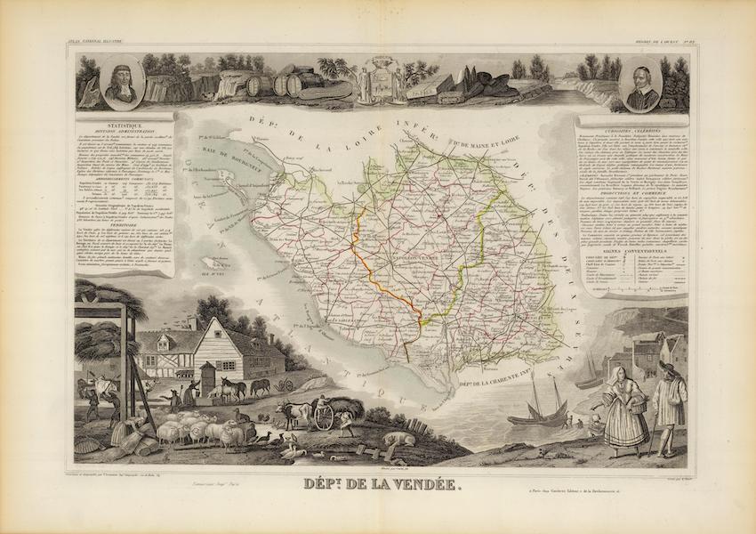 Atlas National Illustre - Dept. De La Vendee (1856)