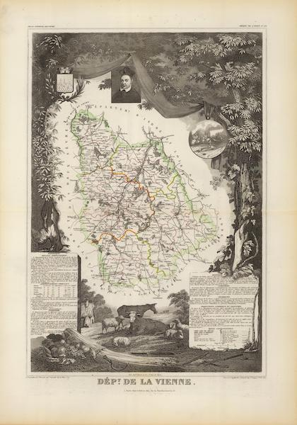 Atlas National Illustre - Dept. De La Vienne (1856)