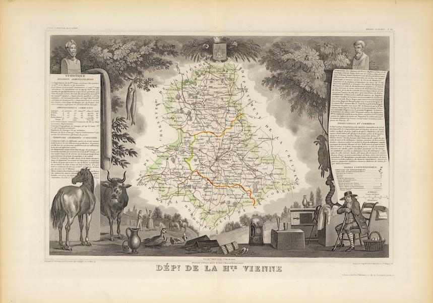 Atlas National Illustre - Dept. De La Hte. Vienne (1856)