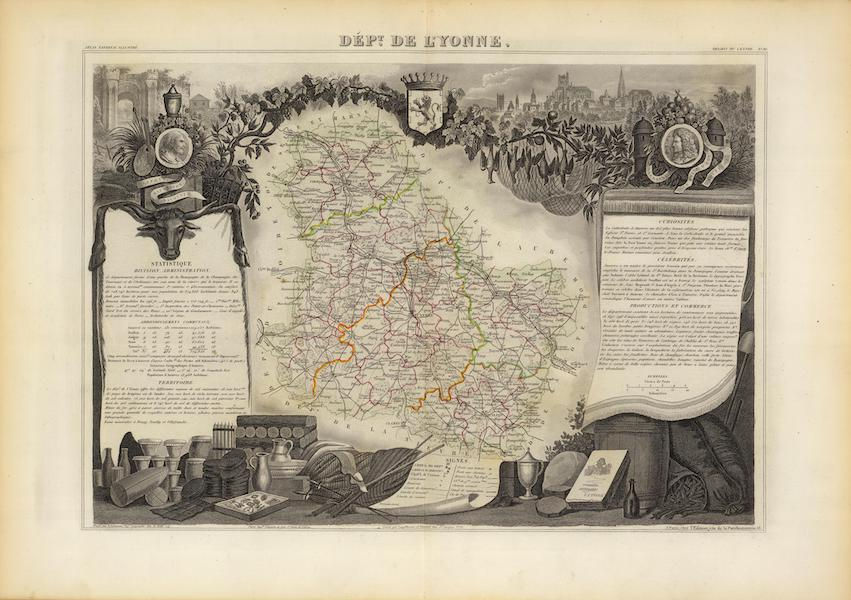 Atlas National Illustre - Dept. De Lyonne (1856)