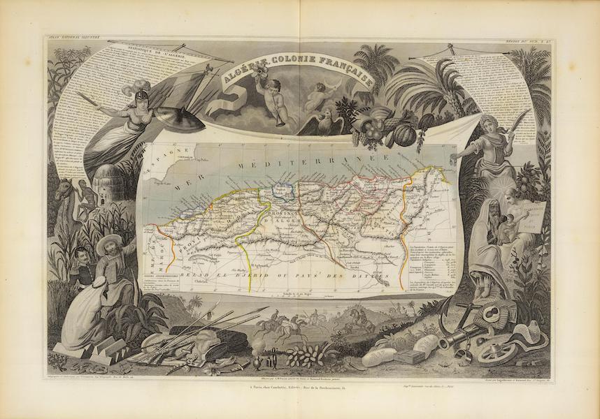 Atlas National Illustre - Algeria Colonie Francaise (1856)