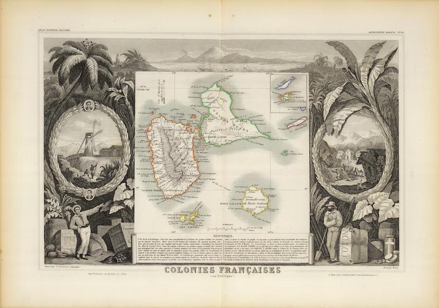 Atlas National Illustre - Colonies Francaises (en Amerique) [I] (1856)