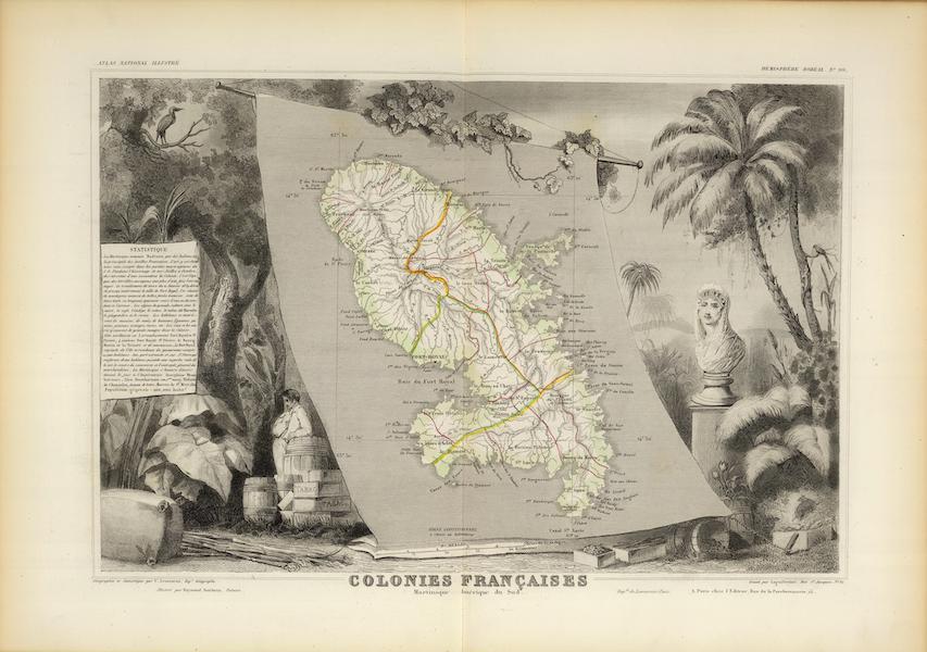 Atlas National Illustre - Colonies Francaises Martinique (1856)