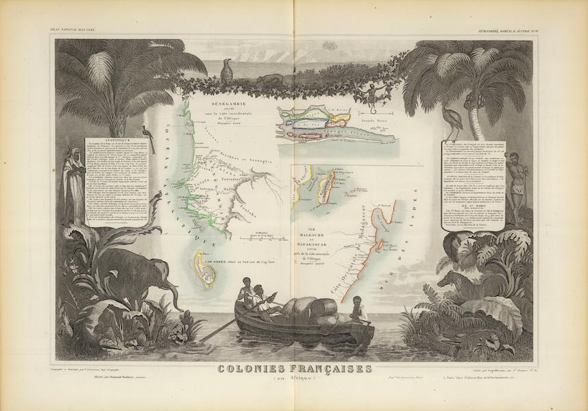 Atlas National Illustre - Colonies Francaises (en Afrique) (1856)