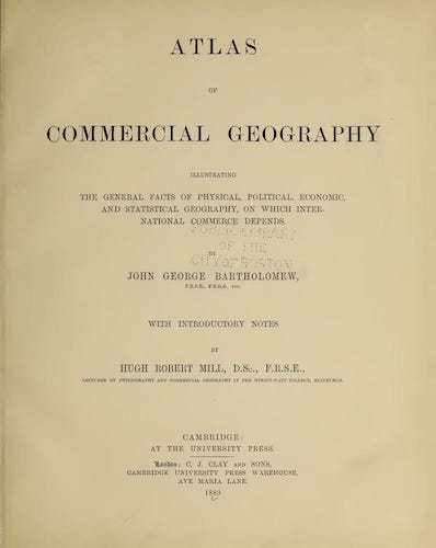 World - Atlas of Commercial Geography