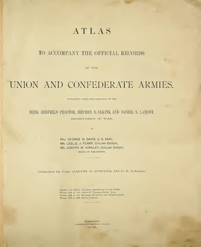 Aquatint & Lithography - Atlas of the Union and Confederate Armies
