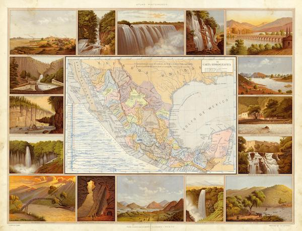 Atlas Pintoresco e Historico De Los Estados Unidos Mexicanos - Carta Hydrografica (1885)