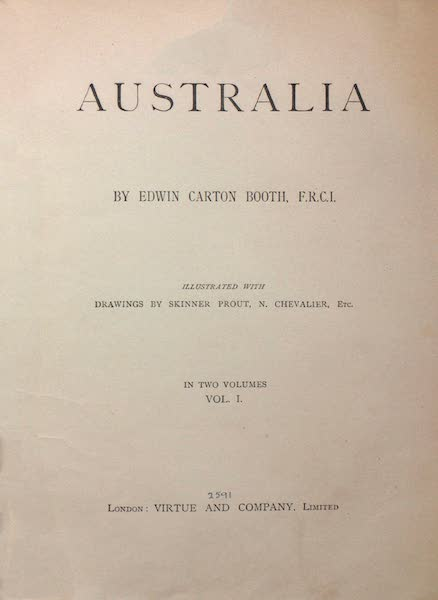 Australia Vol. 1 - Title Page (1873)
