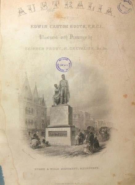 Australia Vol. 1 - Illustrated Title Page (1873)