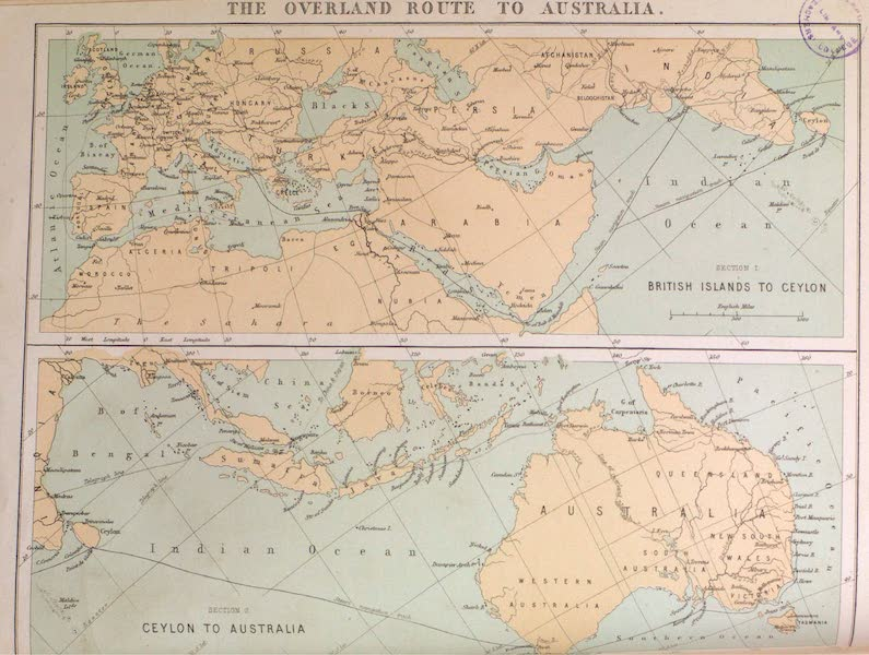 Map of the Overland Route to Australia