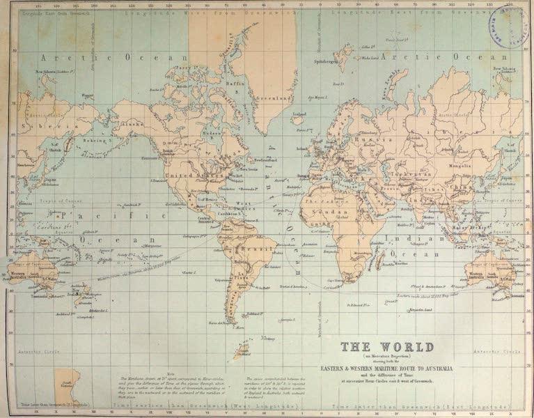 Australia Vol. 2 - The World on Mercator's Projection (1873)