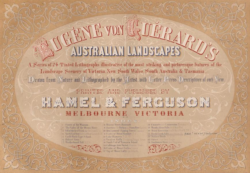 Australian Landscapes - Title Page (1866)