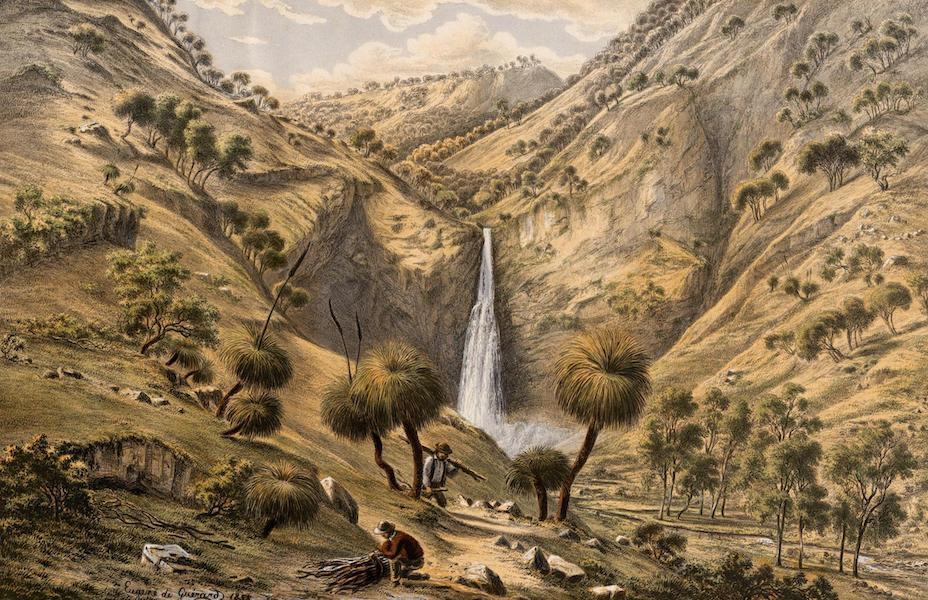 Australian Landscapes - Fall of the First Creek Near Glen, Osmond, S.A. (1866)