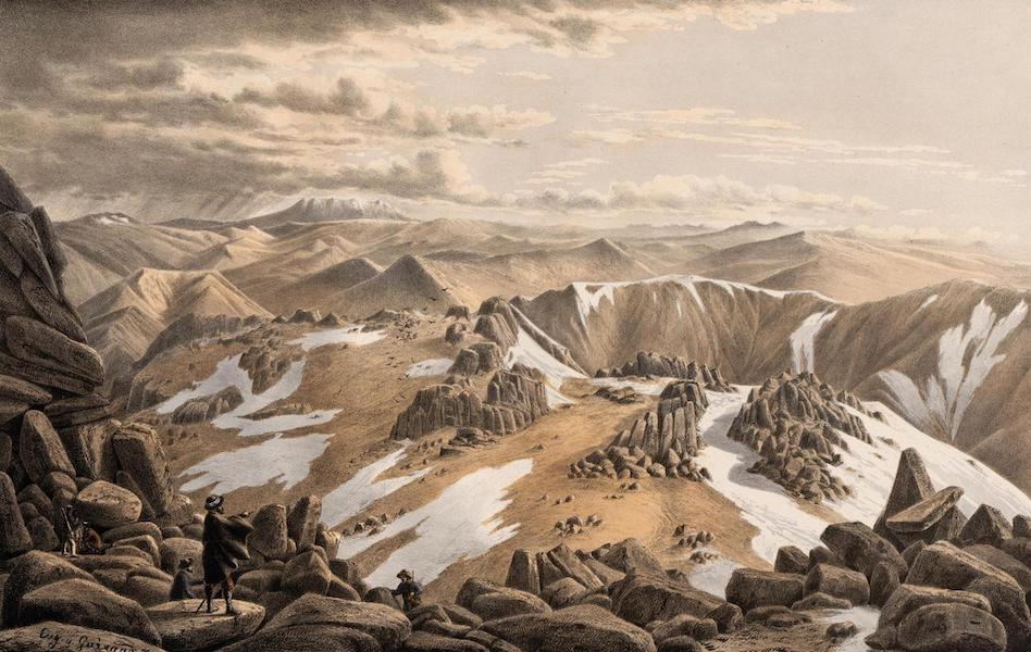 Australian Landscapes - North-East View From the Top of Mt. Kosciusko N.S.W. (1866)
