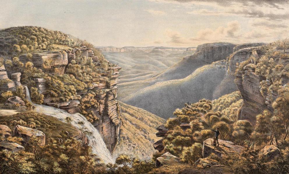 Australian Landscapes - Weatherboard Fall, N.S.W. (1866)