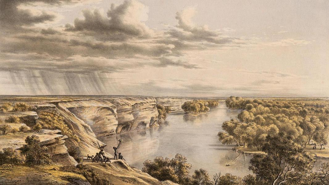 Australian Landscapes - Murray River, Moorundi (1866)