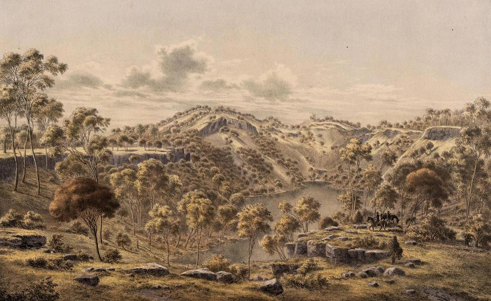 Australian Landscapes - Crater of Mount Eggles, Victoria (1866)