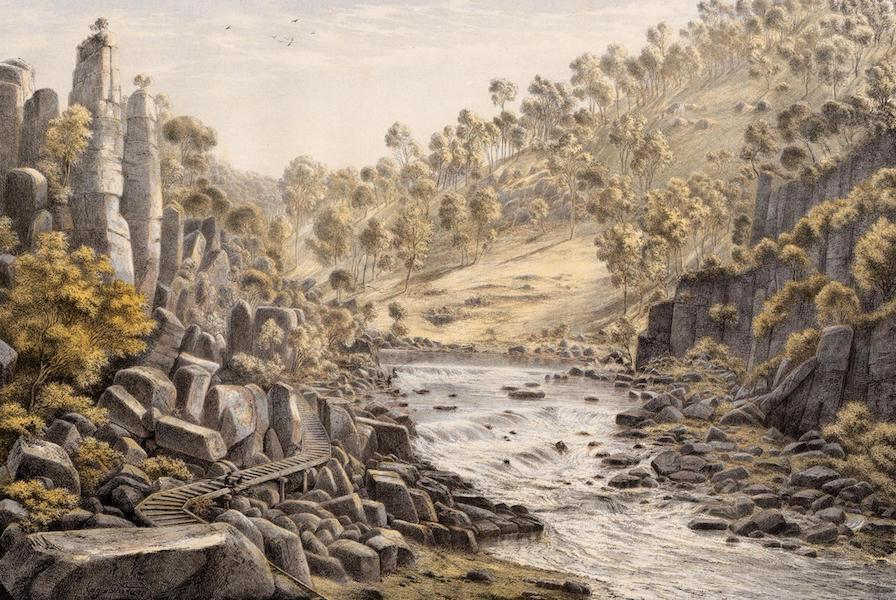 Australian Landscapes - Cataracts near Launceston, Tasmania (1866)