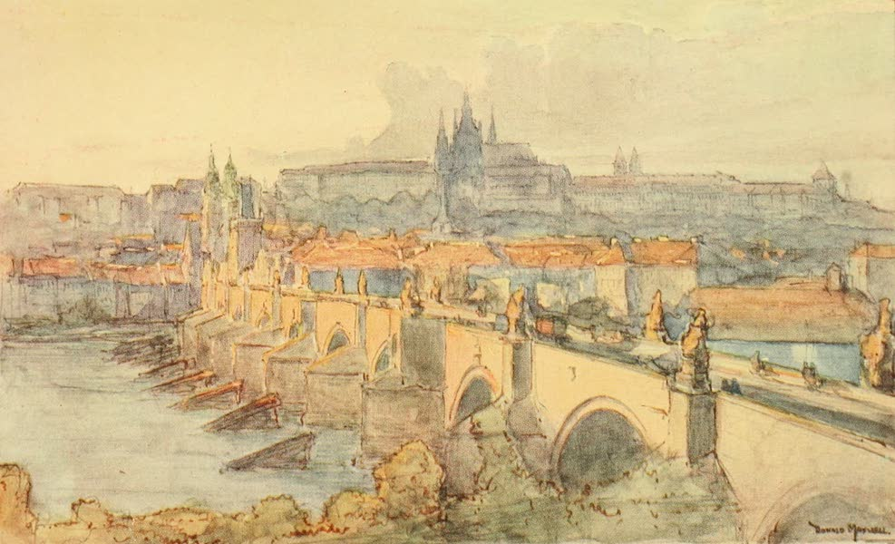 Austria: Her People and Their Homelands - Charles Bridge, Prague (1913)